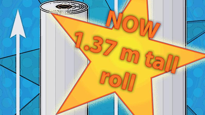 Profiflex LINO in 137 cm wide rolls now