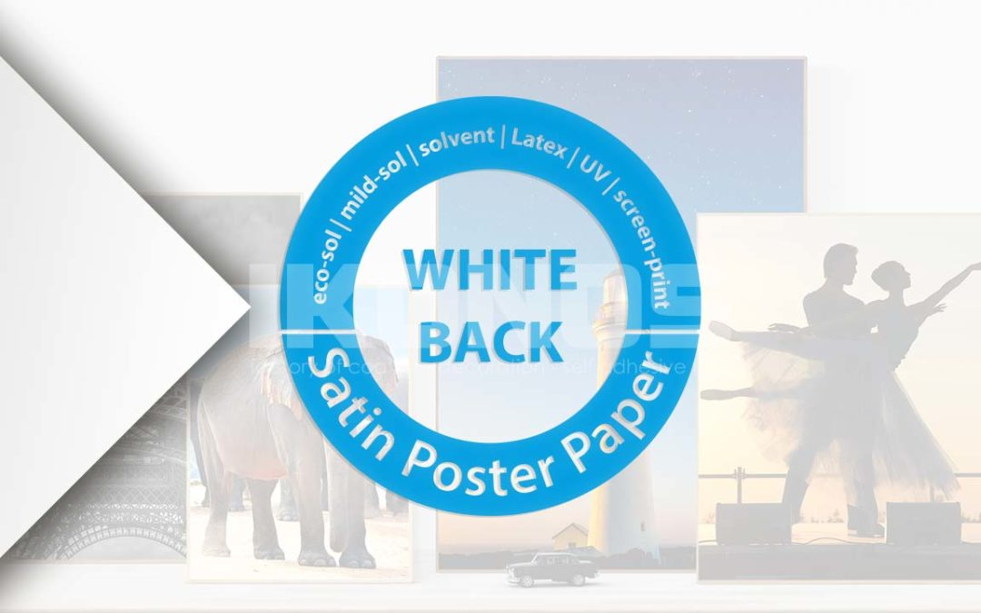 The paper for large inkjets – white back satin poster