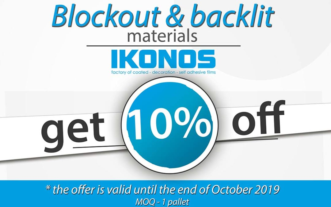 Pop-up roll-up and backlit – October 2019 promotion