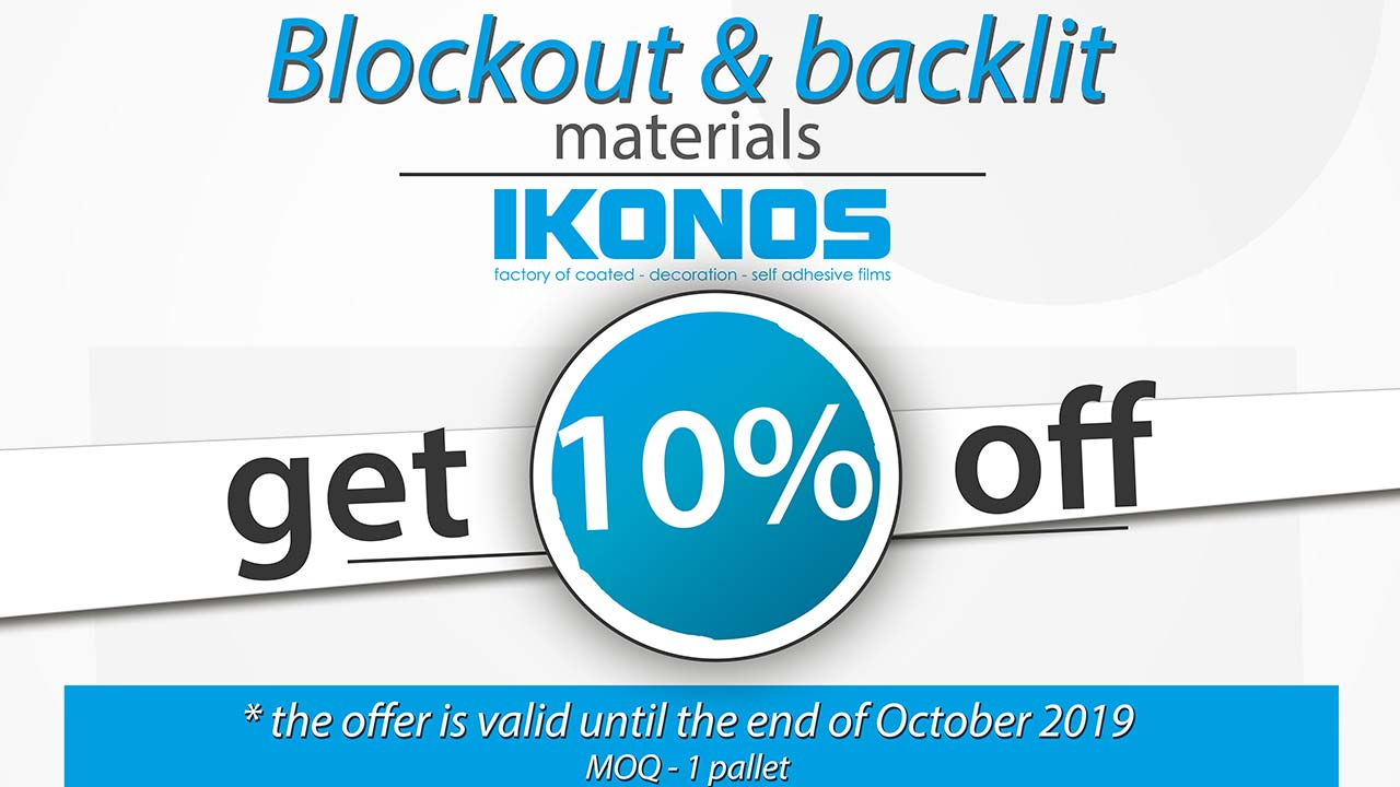 cover for 10% discount on pop-up roll-up and backlits