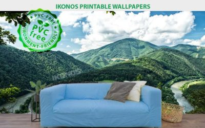 Decoration with printable wallpaper