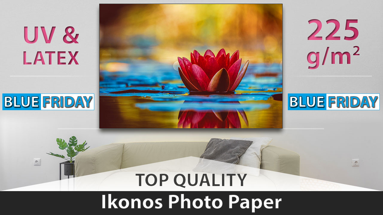 High quality Photo Paper on Black Friday promotion news cover
