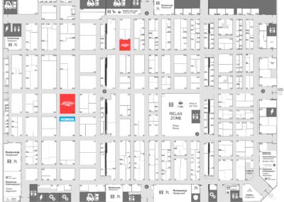 ikonos & atrium on remadays 2020 - hall F map