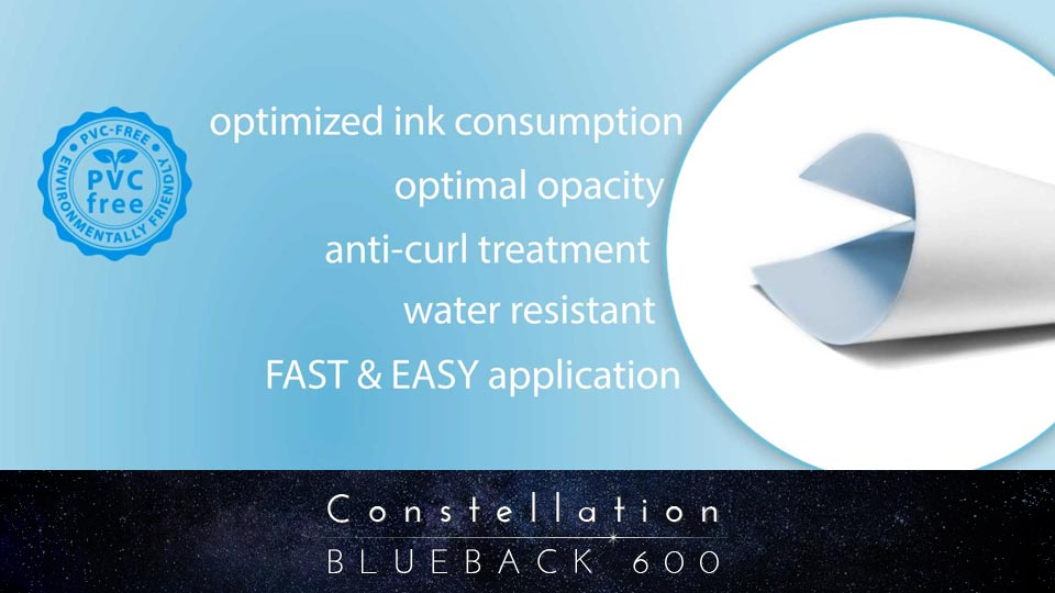Constellation 600 Blueback Paper for billboards