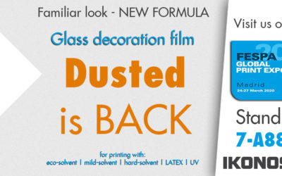 Dusted glass-decoration film is back again