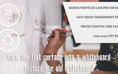 Dry-erase self-adhesive lamination film – turn a graphics into a whiteboard