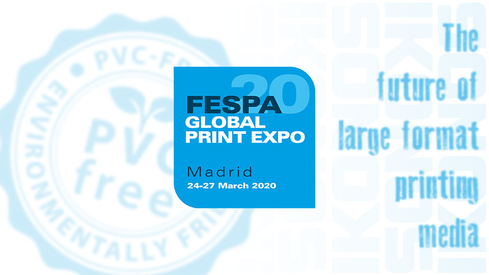 Fespa 2020 cover of news about Ikonos presents on the event