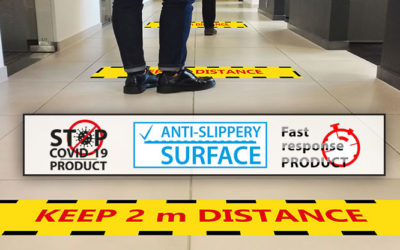 Floor decoration – anti-slippery CERTIFIED – Fast Response printing film