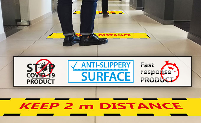Fast response floor decoration graphics printing film with anti-slippery surface