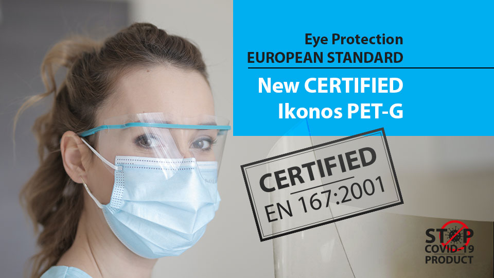 Eye protection standard and certified Ikonos PET-G