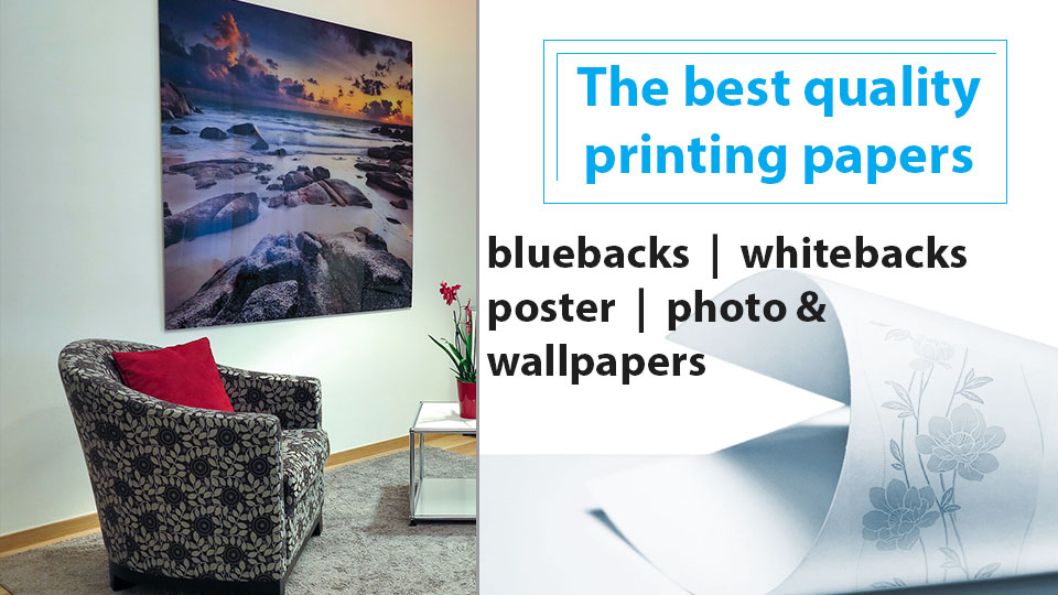 Paper printing media for wide format plotters
