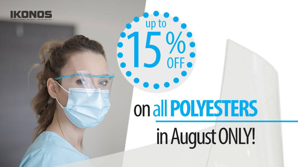 SUMMER DISCOUNT Order in August - get up to 15% off on all polyester media news cover