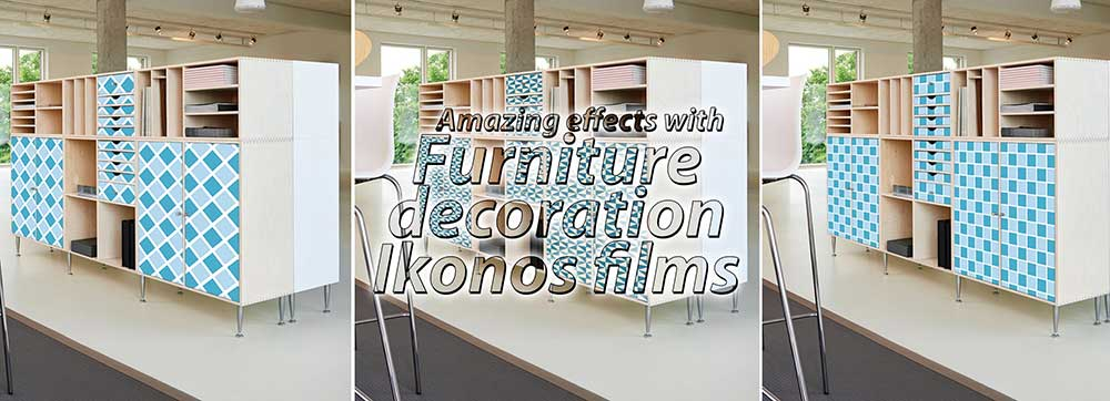 furniture decoration with self-adhesive embossed printing vinyl