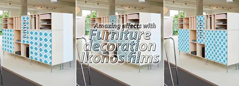 furniture decoration with self-adhesive embossed printing vinyl