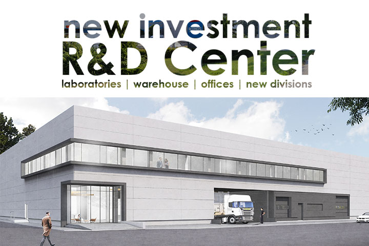 new investmentR and D - research development - new wing of ikonos factory of printing decoration media