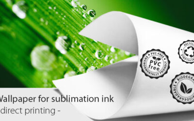 The sublimation ink – direct print wallpaper