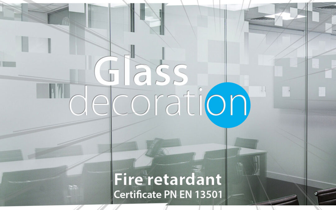 Frosted effect foil window glass decoration