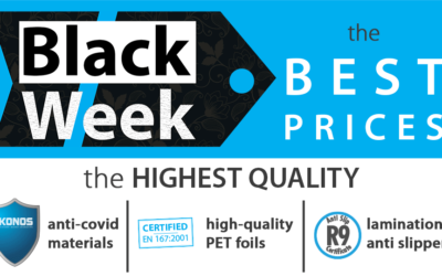 The Black Week SALE – floor lamination, anti-COVID and PET foil