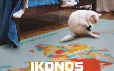 Decorate the floor surfaces with self-adhesive prints
