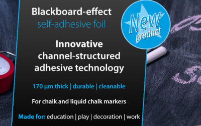 Innovative blackboard self-adhesive foil education & work