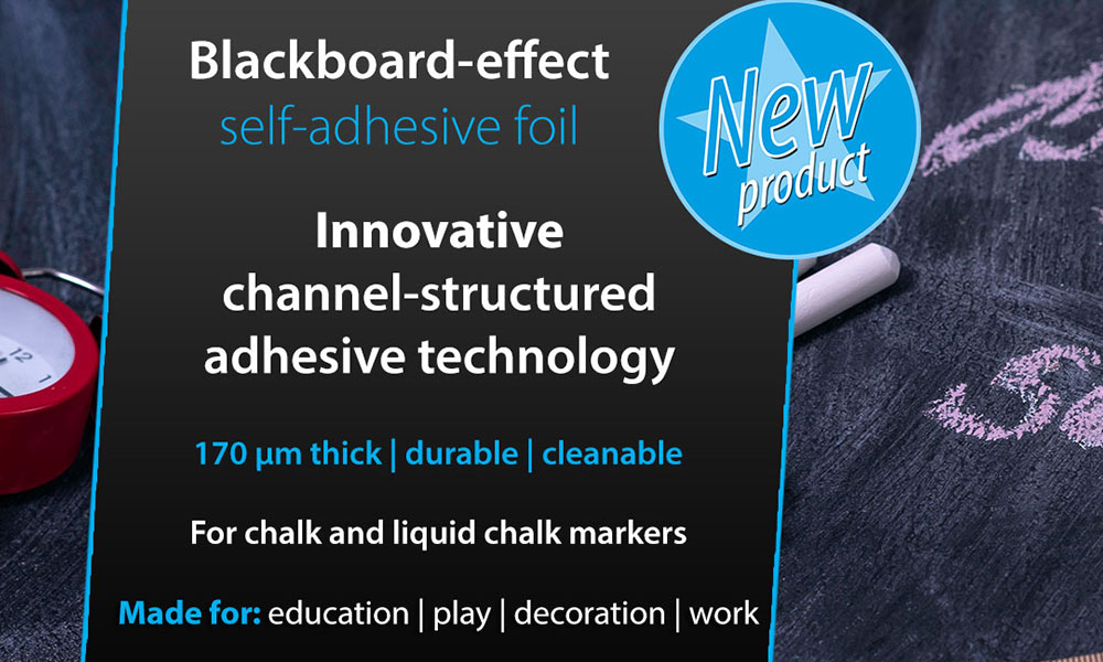 Innovative blackboard self-adhesive foil for education, work and more news cover