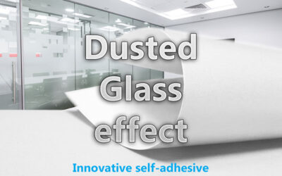 The effect of dusted glass foil – a good choice for decoration and print