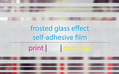 The frosted glass effect foil is all you need to decorate your front