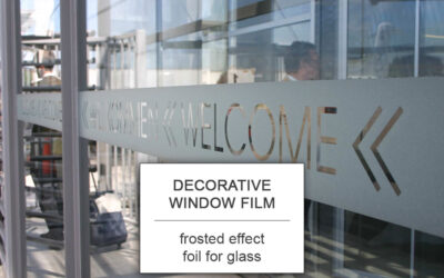 Decorative window film frosted effect foil for glass